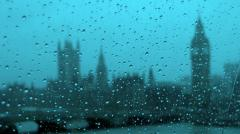 Обои город, дождь, капли, Westminster on a rainy day from the London eye