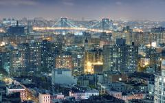 Фото Lower East Side, Williamsburg Bridge, Night, New York City