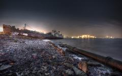 Фотографии New York City, Staten Island, Shipwreck, HDR