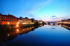 Фото Florence, Italy, Twilight, lights