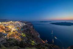 Фото Santorini, Greece, вечер, Греция