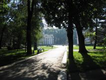 Обои парк скачать для рабочего стола, фотографии собор