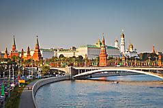 Обои москва, скачать фото кремль, река