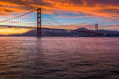 Обои Golden Gate Bridge, California, United States, USA