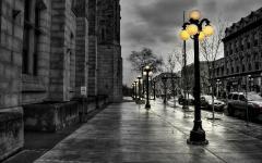 Обои улица скачать для рабочего стола, фотографии черно белое
