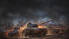 Обои World of Tanks: Blitz, Wargaming Net, WoT, Мир Танков