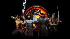 Обои Mortal Kombat, Dragon, Game, Logo