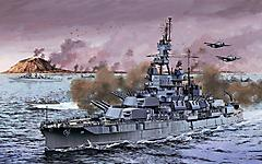 Картинки битва на море скачать для рабочего стола, фото линкор  WW2