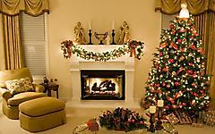 Обои украшенная елка скачать на рабочий стол, фотографии гирлянды