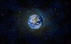 Обои сияющие звезды скачать на рабочий стол, картинки планета земля