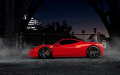 Обои Ferrari скачать для рабочего стола, фотографии красная машина