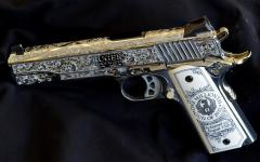 Картинки pistol, Ruger, decorated, silver