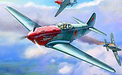Картинки самолет истребитель Як-3 скачать на рабочий стол, фото художник Жирнов