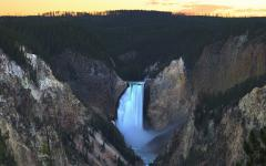 Обои Lower Yellowstone Falls, The Grand Canyon of Yellowstone National Park, каньон, водопад