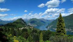 Обои San Grato Botanical Park, Ticino, Switzerland, Lake Lugano