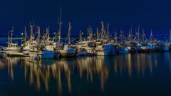 Заставки fishing boats, Nesseby, Finnmark, polar night