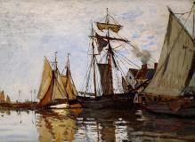 Обои Monet Claude скачать на рабочий стол, фото Pont of Honfleur Sun