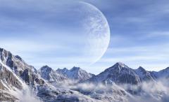 Обои планета скачать для рабочего стола, картинки горы