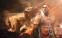 Обои LeBron James скачать для рабочего стола, фотографии Miami