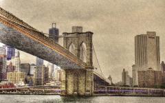 Обои Brooklyn Bridge скачать для рабочего стола, фото NYC