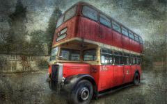 Обои автобус скачать для рабочего стола, фото стиль