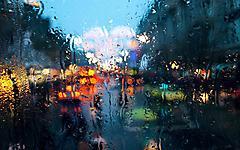 Картинки дождь на стекле скачать для рабочего стола, фото размытость