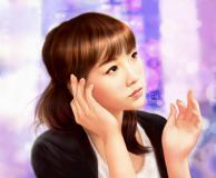 Рисунки арт, taeyeon, snsd, girls generation