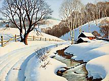 Обои Winter Blanket, скачать рисунки художник Arthur Saron Sarnoff