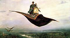 Обои художник Васнецов виктор, рисунки картина ковёр-самолёт, иван дурак на рабочий стол